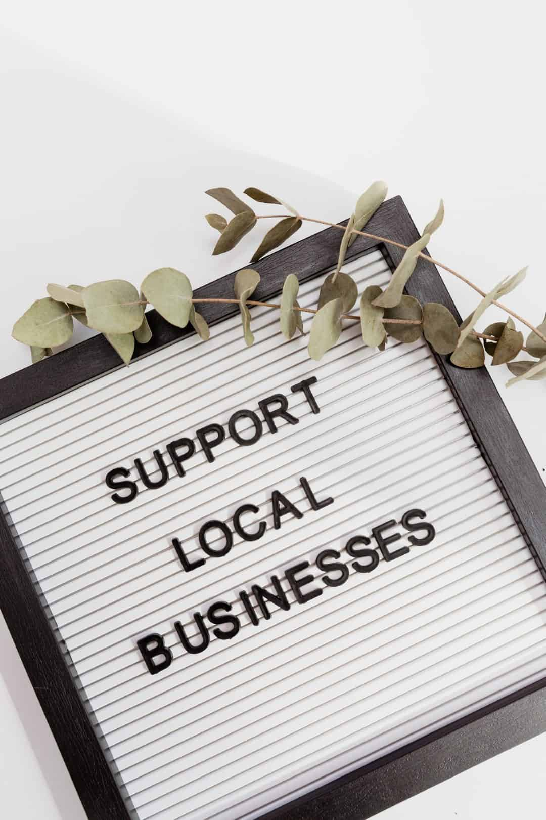 Websites Support Local Businesses